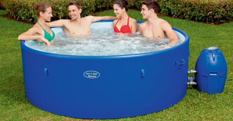 winter season hot tub